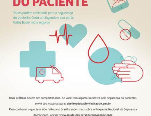 Abril – Mês da Segurança do Paciente