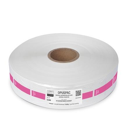 Rolo embalagens com tarja rosa